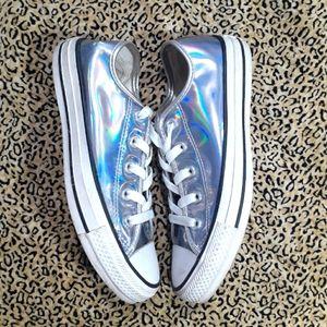 💋Iridescent Hologram Converse Lo tops -6